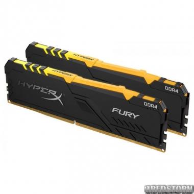 Оперативная память HyperX DDR4-2400 32768MB PC4-19200 (Kit of 2x16384) Fury RGB Black (HX424C15FB3AK2/32)
