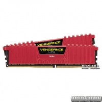 Оперативная память Corsair DDR4-2666 16384MB PC4-21300 (Kit of 2x8192) Vengeance LPX (CMK16GX4M2A2666C16R) Red