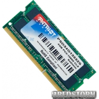 Patriot SODIMM DDR3-1333 4096MB PC3-10600 (PSD34G13332S)