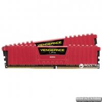 Оперативная память Corsair DDR4-2400 8192MB PC4-19200 (Kit of 2x4096) Vengeance LPX (CMK8GX4M2A2400C16R) Red