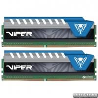 Оперативная память Patriot DDR4-2666 16384MB PC4-21300 (Kit of 2x8192) Viper Elite Series Blue (PVE416G266C6KBL)