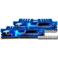 G.Skill DDR3-1600 16384MB PC3-12800 (Kit of 2x8192) RipjawsX (F3-1600C9D-16GXM)