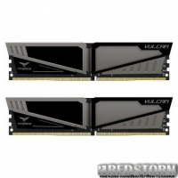 Модуль памяти для компьютера DDR4 8GB (2x4GB) 2666 MHz T-Force Vulcan Gray Team (TLGD48G2666HC15BDC01)