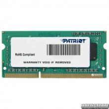 Patriot SODIMM DDR3-1333 4096MB PC3-10600 (PSD34G133381S)