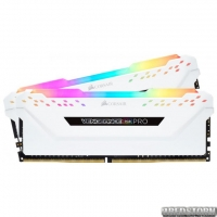 Оперативная память Corsair DDR4-3000 16384MB PC4-24000 (Kit of 2x8192) Vengeance RGB Pro White (CMW16GX4M2C3000C15W)