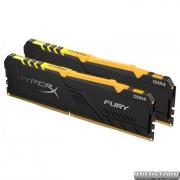 Оперативная память HyperX DDR4-2666 32768MB PC4-21300 (Kit of 2x16384) Fury RGB Black (HX426C16FB3AK2/32)