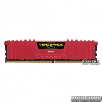 Оперативная память Corsair DDR4-2400 4096MB PC4-19200 Vengeance LPX (CMK4GX4M1A2400C14R) Red