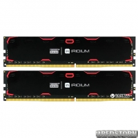 Оперативная память Goodram DDR4-2400 8192MB PC4-19200 (Kit of 2x4096) IRDM Black (IR-2400D464L15S/8GDC)