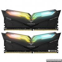 Оперативная память Team T-Force NightHawk DDR4-3200 16384MB PC-25600 (Kit of 2x8192) Black HS RGB LED (TF1D416G3200HC16CDC01)