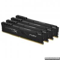 Оперативная память HyperX DDR4-2400 32768MB PC4-19200 (Kit of 4x8192) Fury Black (HX424C15FB3K4/32)