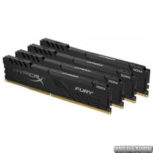 Оперативная память HyperX DDR4-2400 32768MB PC4-19200 (Kit of 4x8192) Fury Black (HX424C15FB3K4/32)