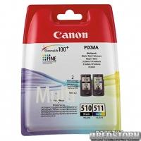 Набор картриджей Canon PG-510Bk/CL-511 Multi Pack (2970B010)