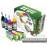 Комплект перезаправляемых картриджей ColorWay Brother LC-563/565/567 + чернила (4х100 мл) (LC563RC-4.1)