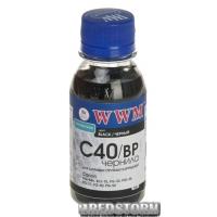Чернила WWM Canon PG-40BK/PG-50BK/PGI-5BK 100 мл Black Pigment (C40/BP-2)