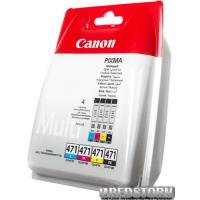 Набор картриджей Canon CLI-471 Multi Pack Cyan/Magenta/Yellow/Black (0401C004)