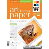 Фотобумага ColorWay ART фактура кожа 230 г/м 10 л A4 Глянцевая (PGA230010LA4)