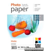 Бумага ColorWay матовая 108 г/м A4 PM108-100 (PM108100A4)