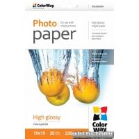 Фотобумага ColorWay глянцевая 230г/м 10x15 20 л PG230-20 (PG2300204R)