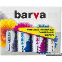 Комплект чернил Barva Canon Pixma G1400/G2400/G3400 (GI-490) 4х90 г (CG490-090-MP)