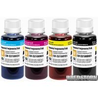 Комплект чернил ColorWay Epson L100/L200 (4 х 100 мл) BK/С/M/Y (CW-EU100SET01)