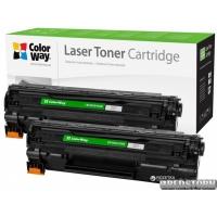 Картридж ColorWay HP CB435AF/CB436A/CE285A, Canon 712/725 Dual Pack (2шт.) (CW-H435/436FM)