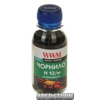 Чернила WWM HP 100 мл Black Pigment (H12/BP-2)