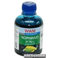 Чернила WWM HP 200 мл Cyan (H78/C)