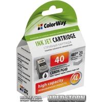 Картридж ColorWay Canon PG40 Black (CW-CPG40)