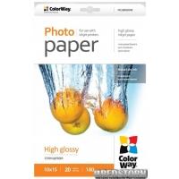 Бумага ColorWay глянцевая 180г/м 10x15 ПГ180-20 (PG1800204R)