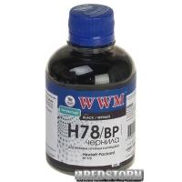 Чернила WWM HP 200 мл Black Pigment (H78/BP)