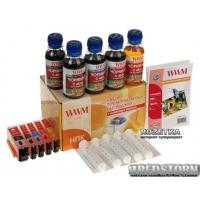 Комплект перезаправляемых картриджей WWM Canon c чипами + чернила (5х100 г) (RC.CLI451ARC)