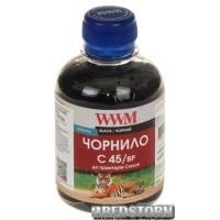 Чернила WWM C45 Canon PG-440/PG-445/PGI-450BK 200 мл Black Pigment (C45/BP)