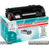 Картридж Laser WWM HP P2035/P2055; Canon LBP-6300/6650/6670, 05A, CE505A (LC34N)
