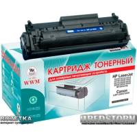 Картридж Laser WWM HP 12A, Q2612A, Laser Canon 703 (LC21N)
