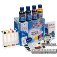 Система НПЧ WWM Epson Stylus SX125/SX130/SX230/235W c чипами + чернила Electra (4x100 г) (IS.0260BU)