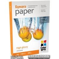 Бумага ColorWay глянцевая 200г/м A4 PG200-100 (PG200100A4)
