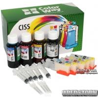 Комплект перезаправляемых картриджей ColorWay Canon IP7240/MG5440/5540/6440/MX924/iX6840 (IP7240RC-5.5)