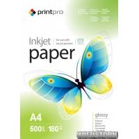 Фотобумага PrintPro глянцевая 180г/м A4 500 л PG180-500 (PGE180500A4)