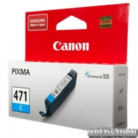 Картридж Canon CLI-471C PIXMA MG5740/MG6840 Cyan (0401C001)