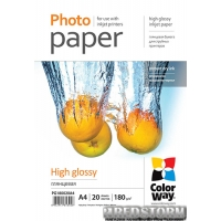 Фотобумага ColorWay 180 г/м A4 PG180-20 Глянцевая (PG180020A4)