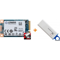 Kingston SSD UV500 240GB mSATA SATAIII 3D NAND TLC (SUV500MS/240G) + Флеш память USB Kingston DataTraveler I G4 16GB в подарок!