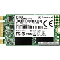 Transcend SSD MTS430S 512GB M.2 SATA III 3D NAND TLC (TS512GMTS430S)
