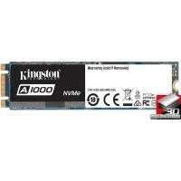 Kingston SSD A1000 480GB NVMe M.2 2280 PCIe 3.0 3D NAND TLC (SA1000M8/480G)