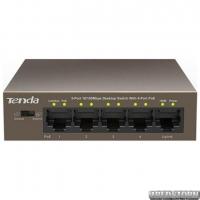 Коммутатор TENDA TEF1105P-4-63W (1xFE+4xFE PoE, 58Вт max)