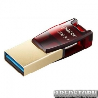 USB флеш накопитель Apacer 64GB AH180 Red Type-C Dual USB 3.1 (AP64GAH180R-1)