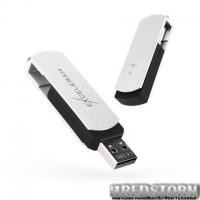 USB флеш накопитель eXceleram 32GB P2 Series White/Black USB 2.0 (EXP2U2WH2B32)