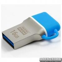 Флеш накопитель GOODRAM 16GB Dual Drive Blue (ODD3-0160B0R11)