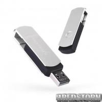 USB флеш накопитель eXceleram 8GB P2 Series Silver/Black USB 2.0 (EXP2U2SIB08)
