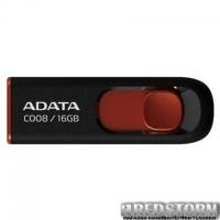 USB флеш накопитель ADATA 16Gb C008 Black/Red USB 2.0 (AC008-16G-RKD)
