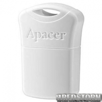 USB флеш накопитель Apacer 16GB AH116 White USB 2.0 (AP16GAH116W-1)